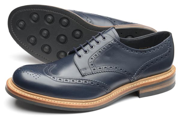 1880 WORTON NAVY BURNISHED CALF